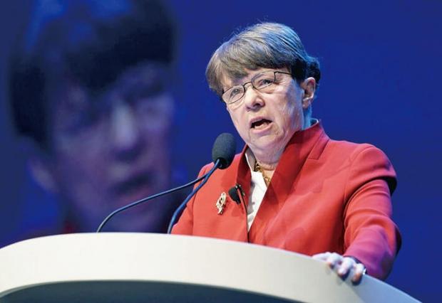 미국증권거래위원회(SEC)의메리조화이트(MaryJoWhite)의장. | CHIPSOMODEVILLA/GETTYIMAGES