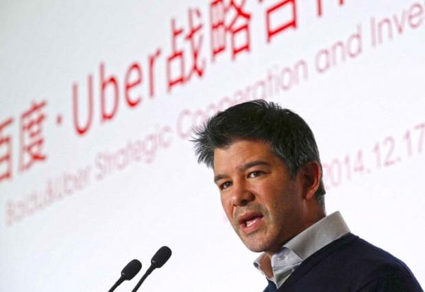 캘러닉 우버 최고경영자(CEO)는 6월 12일 투자자에게 보내는 메시지를 통해 10억 달러를 투자해 중국 시장 공략에 나설 것임을 선언했다. | Greg Baker/AFP/Getty Images