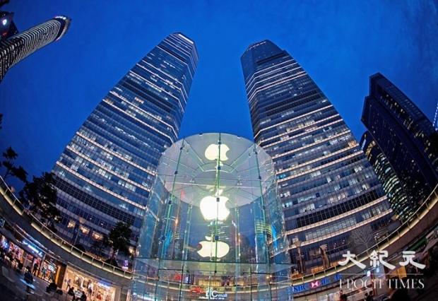 중국 상하이에 있는 애플 스토어.   Getty Images