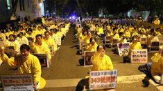 파룬궁, 샌프란시스코 中영사관 앞서 대규모 촛불집회