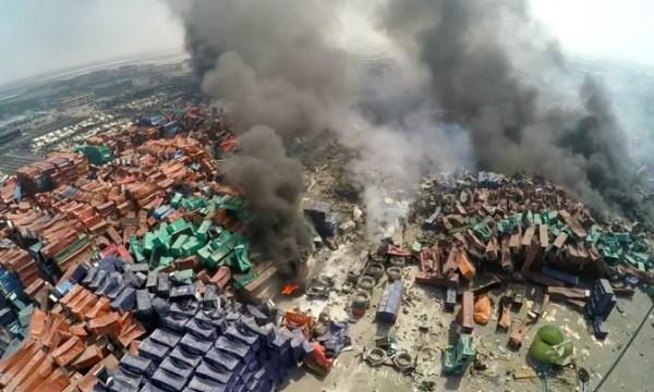 작년8월폭약원료인질산암모늄을보관하고있던톈진항의창고에서화재에이어대규모폭발이일어나165명이사망하고8명이실종됐으며798명이중경상을입었다. | Getty Images