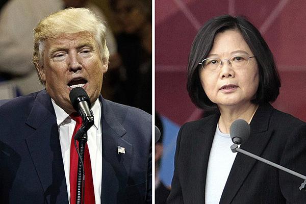 12월 2일, 도널드 트럼프 미국 대통령 당선인이 대만 차이잉원 총통과 미국-대만 국교 단절 37년 만에 정상간 통화를 하면서 큰 파장이 일고 있다.   AP