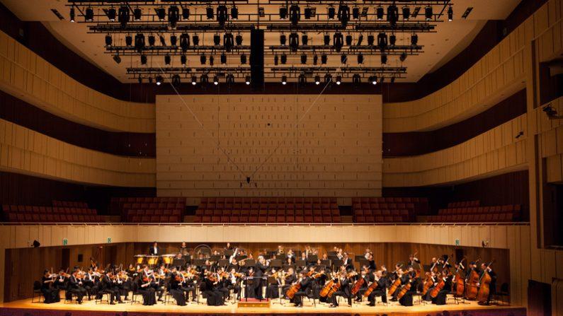 17일 일요일 오후 국제적 수준의 전문 콘서트홀로 평가받는 대구 콘서트하우스 그랜드홀에서 뉴욕 '션윈 심포니 오케스트라'가 화려한 막을 올렸다.(김국환 기자)