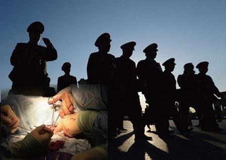중공의 불법 장기매매는 군·경이 깊이 관여하고 있다. | 에포크타임스 DB