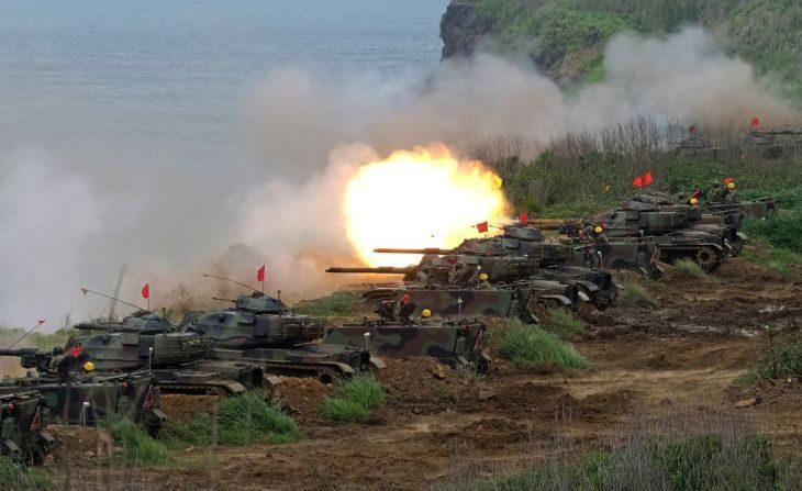 2017년 5월 대만에서 중국 인민군의 침공에 대비한 연례 군사훈련이 실시됐다(SAM YEH/AFP/Getty Images)