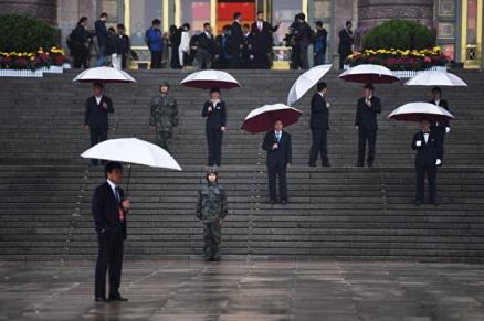10월 18일 중공 19대 개막식에서 치사하는 시진핑 | Getty Images