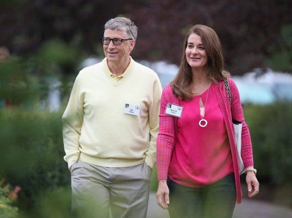 빌 게이츠와 그의 아내 멜린다