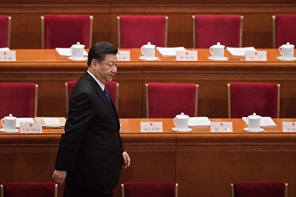 시진핑 주석이 2018년 중국 공산당 양회에 참석했다. | NICOLAS ASFOURI/AFP/Getty Images