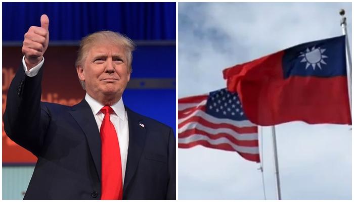 3월 16일 트럼프 미 대통령이 '대만여행법'에 서명하면서 해당 법안이 정식으로 발효됐다. | 에포크타임스 합성