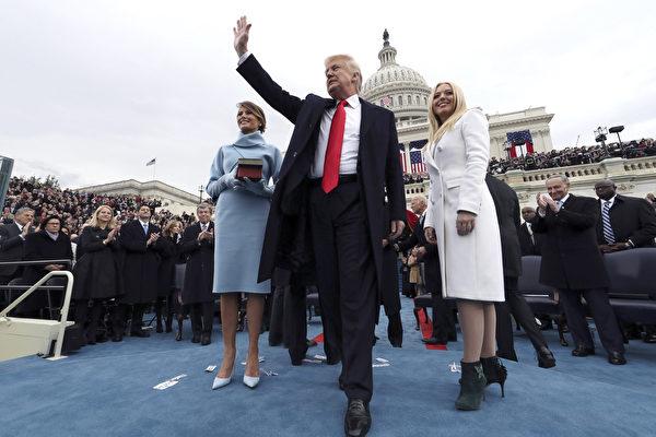 2017년 1월 20일, 트럼프는 미국 대통령에 취임하고 미국을 이끌고 신기원을 열다. | Jim Bourg-Pool/Getty Image