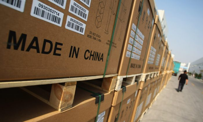 중국 허베이성 바오딩시 한 제조공장에서 생산된 광전판 제품. 2009년 6월 24일. | Feng Li/Getty Images