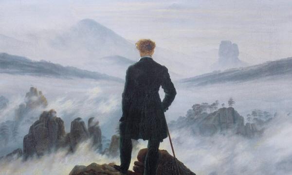 캐스퍼 데이비드 프리드리히의 '운무를 바라보는 방랑자' 일부 | Public Domain