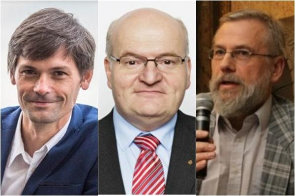 (좌측부터) 마레크 힐셰르(Marek Hilser) 상원의원, 다니엘 허만(Daniel Herman) 전 문화부 장관, 얀 페인(Jan Payne) 프라하 카렐 대학교 생명윤리학자 | Screenshots by Milan Kajinek/The Epoch Times