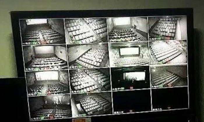 2017년에 벌써 중국 선전과 기타 지역의 영화관에 감시카메라가 설치됐다. 공안은 수천 마일 떨어진 곳에서 안면인식 시스템을 사용해 영화관 내 관객을 감시할 수 있다. | 인터넷 이미지