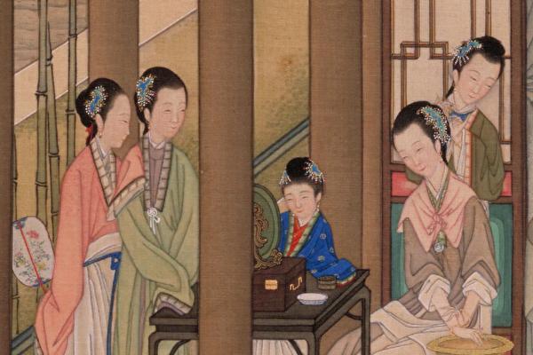 청나라 진목(陳枚)이 그린 '월만청유도(月曼清遊圖)' 중 일부. | 퍼블릭 도메인