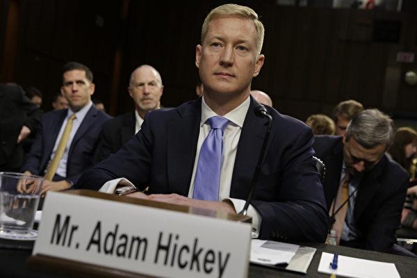 지난달 24일 열린 제5차 미국 외국인투자심의위원회(CFIUS)와 아메리칸 텔레그래프 전국대회에 참가한 아담 히키 미 법무부 부차관보   YURI GRIPAS / AFP
