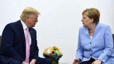"""트럼프 대통령, 메르켈 총리에 """"민주당 대선 후보 TV은 토론 따분"""""""