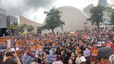 홍콩 시위 참가자마다 손에 든 '만화 포스터'의 정체