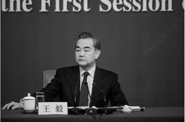 왕이(王毅) 중국 외교부장. 외교관답지 않게 독설과 훈계조라는 비판을 받고 있다. | FRED DUFOUR/AFP/Getty Images