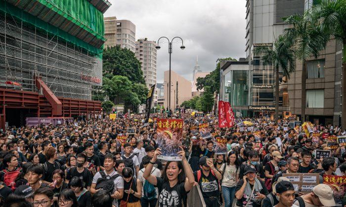'범죄인 인도 법안'의 완전 철회를 요구하는 시위에 홍콩인 23만여 명이 집결했다. 카오룽 반도. 2019.7.7   Anthony Guan/Getty Images