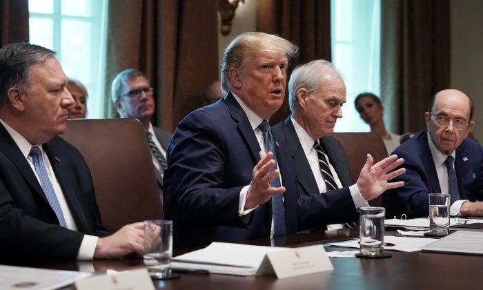 트럼프 대통령이 백악관에서 발언하고 있다. 2019.7.16  | Chip Somodevilla/Getty Images