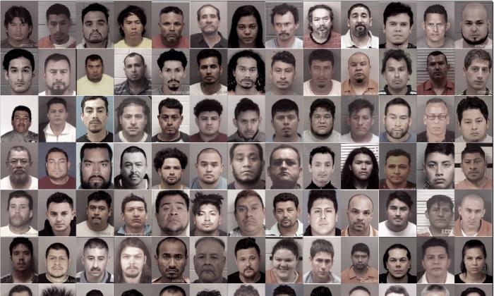 2018년 10월부터 2019년 6월까지 미국 노스캐롤라이나에서 아동 성범죄 혐의로 체포된 용의자들