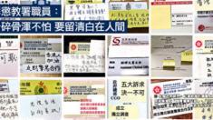 홍콩 '백색테러'에서 정부 공직자들까지 '인증샷' 항의 성명