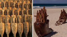 키프로스에서 거의 온전한 형태의 로마선박 발견..선적 화물도 그대로