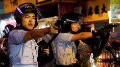 홍콩 경찰, 시위대에 첫 실탄 경고사격…물대포도 첫 투입