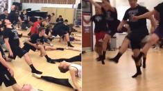 축구부 고등학생들이 발레수업 듣는 모습을 동영상으로 찍어봤다 (영상)