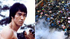 """홍콩 시위대 사이에 이소룡 '물의 가르침' 유행..""""맞서지 말고 유연하게 대응"""""""