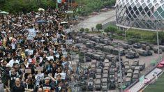 '인민해방군 10분 대기' 속 홍콩 주말 민주화·친정부 시위