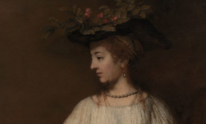 1654년 램브란트 작품 '플로라', 캔버스에 유채. 1250x1010mm 아처 헌팅턴이 그의 아버지 콜리스 포터 헌팅턴을 기리기 위해 1926년에 기증. 자료사진   The Metropolitan Museum of Art