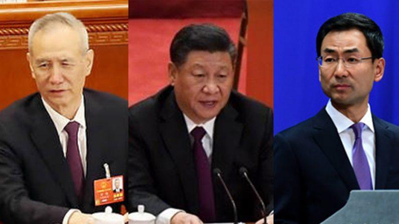 [좌] 류허 부총리, 시진핑 주석   연합뉴스 [주] 겅솽 대변인    중국 외교부