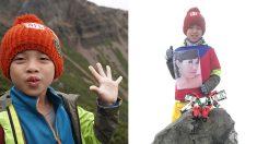 """""""아빠랑 정상에 왔어요!"""" 엄마와의 약속 지키려 4000미터 등반한 8살 소년"""