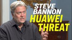 """전 백악관 수석전략가 스티브 배넌 """"화웨이, 핵전쟁만큼 국가안보에 위협적"""""""