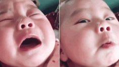 눈물방울 1도 없이 가짜로 엉엉 울다 엄마 반응 슬쩍 살피는 '연기천재' 아기
