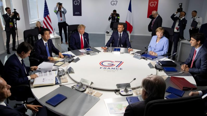 프랑스 G7 정상회담. 2019.8.26 | Ian Langsdon/Pool via Reuters=연합뉴스
