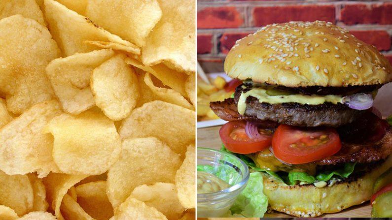 감자칩과 햄버거 | Pixabay