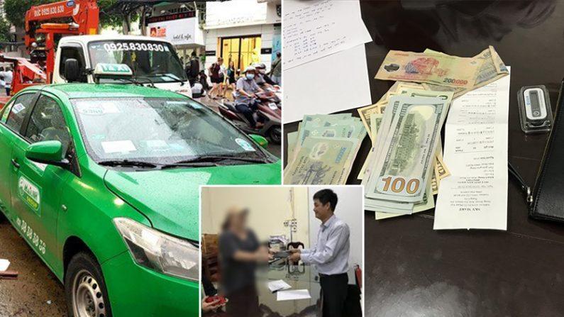 [좌] 베트남 택시 express.vn [우] 베트남 택시기사가 한인 여성 승객에게 찾아준 현금 | langdong.vn