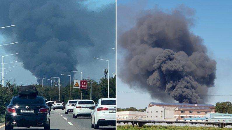 김포 부직포 공장 화재 | 연합뉴스