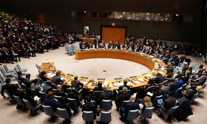 유엔 안전보장이사회가 뉴욕 시 맨해튼 자치구에서 회의하고 있다 2019. 1. 26. Carlo Allegri/Reuters =Yonhapnews (연합뉴스)