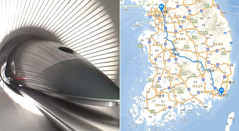 [좌] 기사 내용과 관련 없는 사진 / Youtube 'HyperloopTT', [우] 네이버 지도