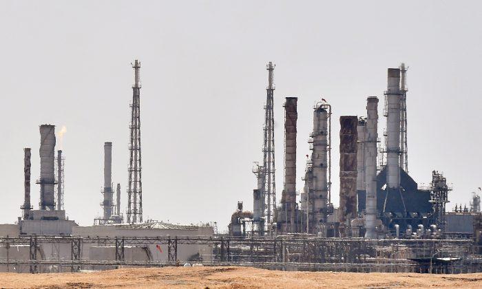 사우디아라비아 수도 리야드 남쪽에 있는 아람코 석유생산 시설. 2019.9.5. | Fayez Nureldine/AFP/Getty Images