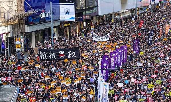 중국공산당 폭정에 저항하는 것이 민중시위의 주 요구가 됐다.   위강(余鋼)/에포크타임스