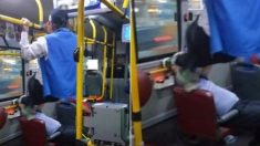 버스 노약자석 앉은 청년 얼굴에 '드롭킥' 날린 할아버지
