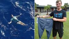 바다서 입고 있던 '청바지'로 구명조끼 만들어 구조대 올 때까지 3시간 버틴 남성