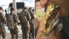 부대 밖에서 군인들이 점심으로 '햄버거' 먹는다고 신고한 주민들