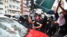 """중국 공산당 간부·단체, 홍콩 시위대 덮친 택시기사 격려 논란…""""범죄 조장"""""""