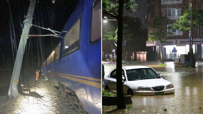 2일 태풍 미탁 상륙으로 전국 곳곳에서 피해가 속출했다. | 연합뉴스